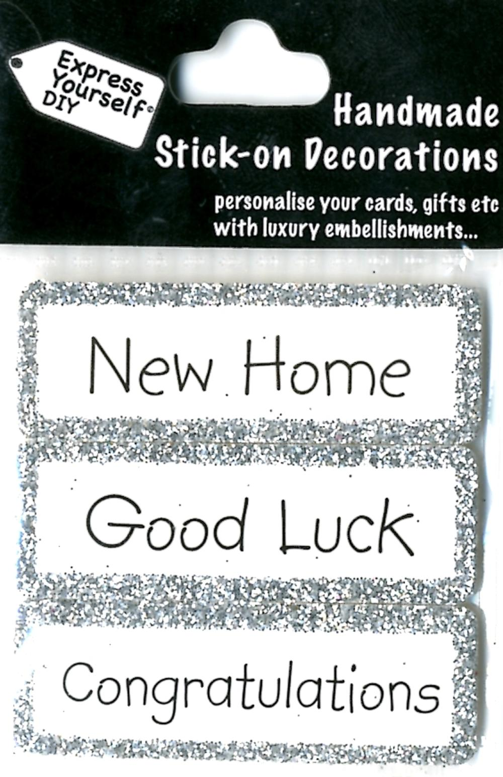 Good Luck New Home DIY Greeting Card Toppers