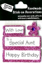 Happy Birthday Special Aunt DIY Greeting Card Toppers