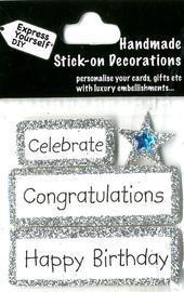 Congratulations Happy Birthday DIY Greeting Card Topper