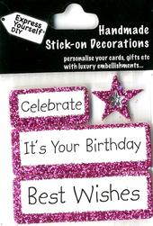 Best Wishes It's Your Birthday DIY Greeting Card Toppers