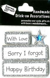 Happy Birthday Sorry I Forgot DIY Greeting Card Toppers