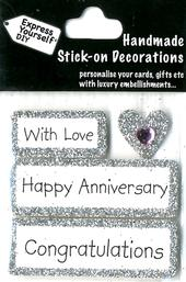 Happy Anniversary DIY Greeting Card Toppers