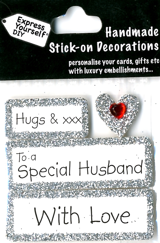 Details About Hugs To A Special Husband With Love DIY Greeting Card Toppers