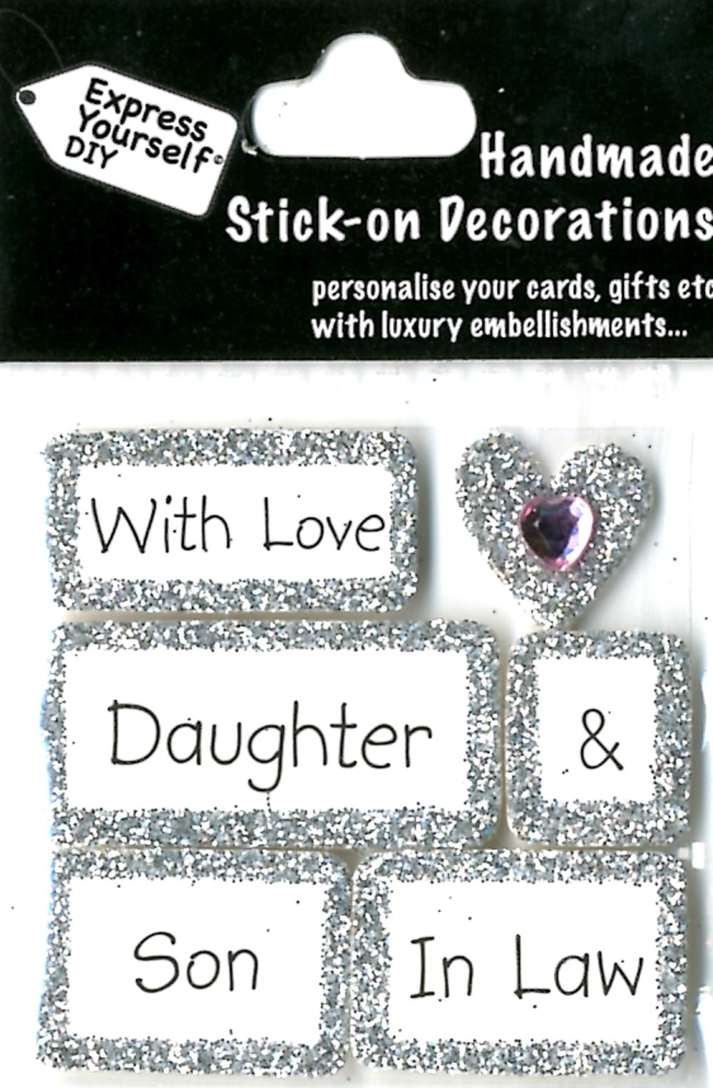 With Love Daughter Son In Law DIY Greeting Card Toppers