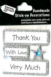 Thank You Very Much DIY Greeting Card Toppers