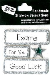 Good Luck For Your Exams DIY Greeting Card Toppers