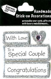 To A Special Couple Congratulations DIY Greeting Card Topper