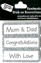 Mum & Dad Congratulations DIY Greeting Card Toppers