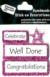 Well Done Congratulations DIY Greeting Card Toppers