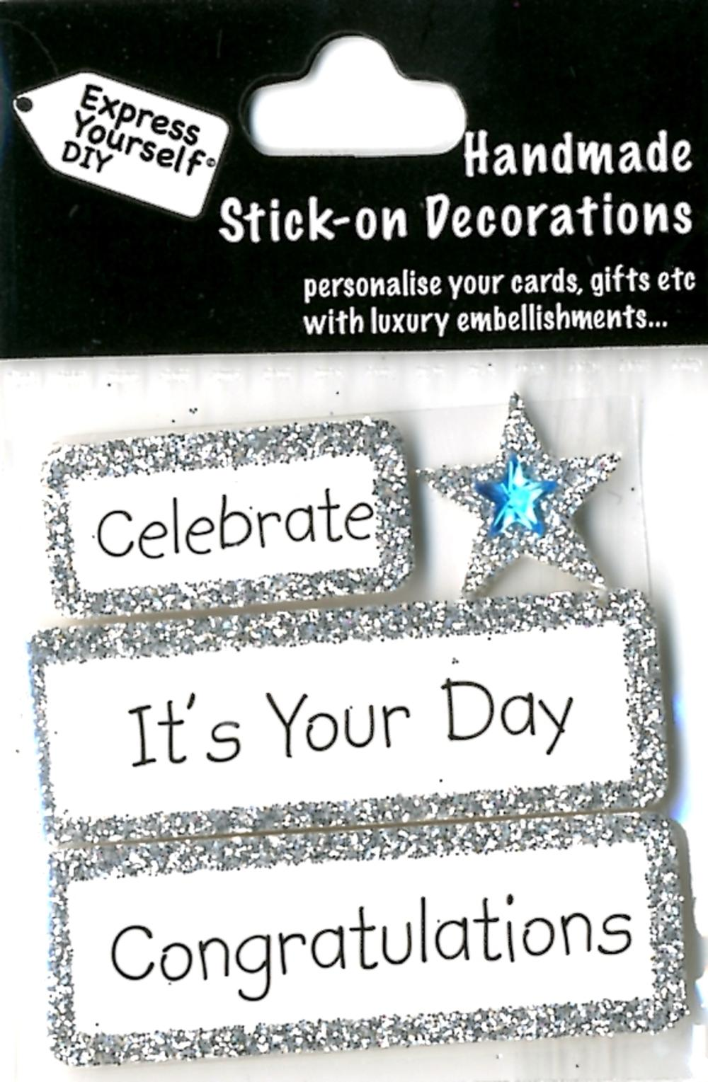 Celebrate Congratulations DIY Greeting Card Toppers