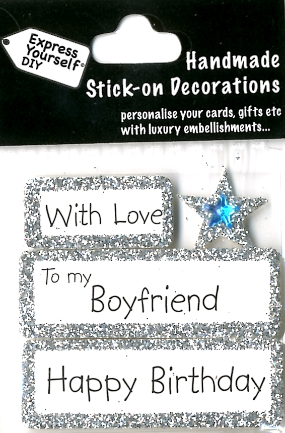 Happy Birthday Boyfriend Diy Greeting Card Toppers Gift