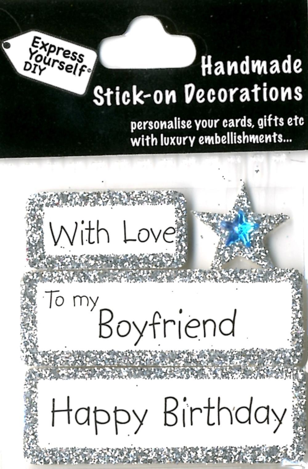 Happy Birthday Boyfriend DIY Greeting Card Toppers