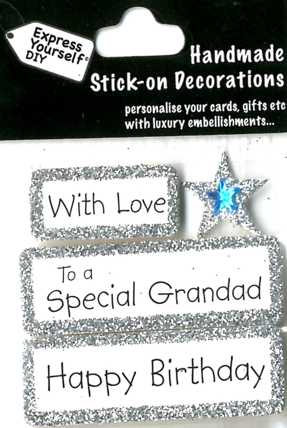 Happy Birthday Special Grandad DIY Greeting Card Toppers