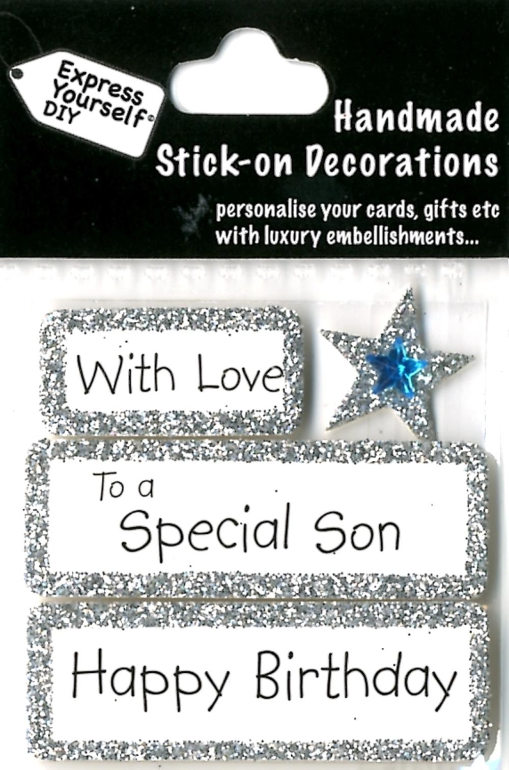 Happy Birthday Special Son DIY Greeting Card Toppers