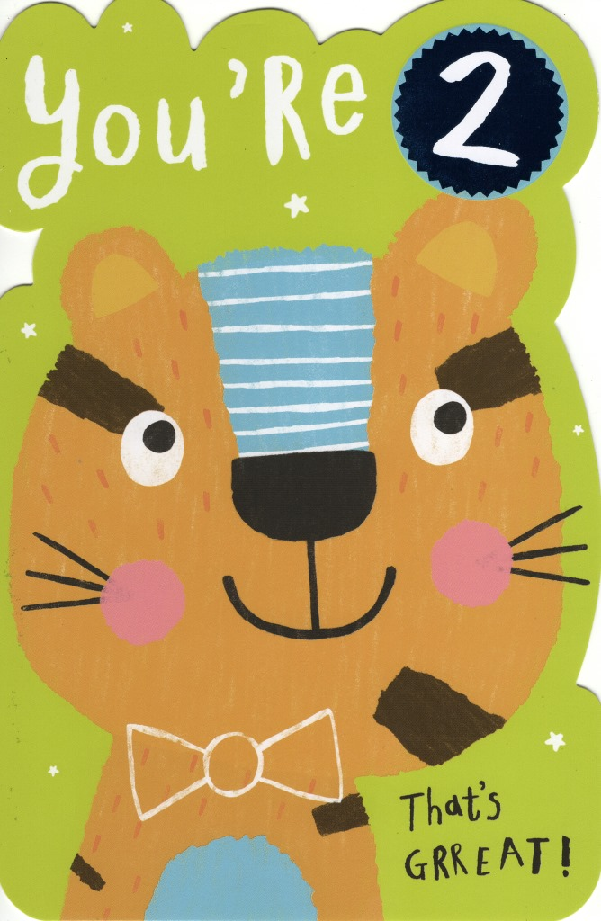 Sentinel Boys Happy 2nd Birthday Greeting Card Childrens Greetings Cards
