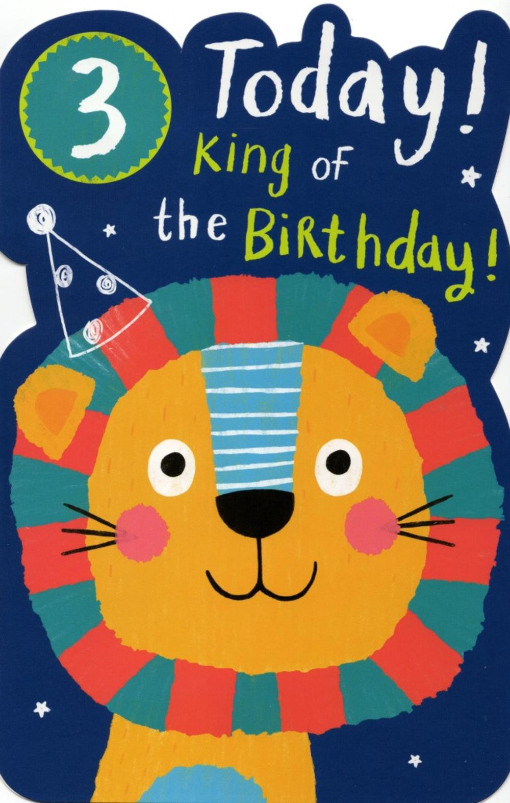 Boys Happy 3rd Birthday Greeting Card With Badge 20 Off Thumbnail 1