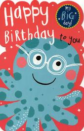 Happy Birthday To You Greeting Card With Badge