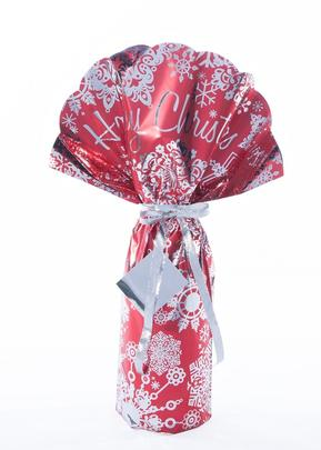 Lux Wrap Happy Christmas Red Luxury Bottle Gift Wrapping