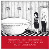 Just One Mince Pie Funny Fred Christmas Card