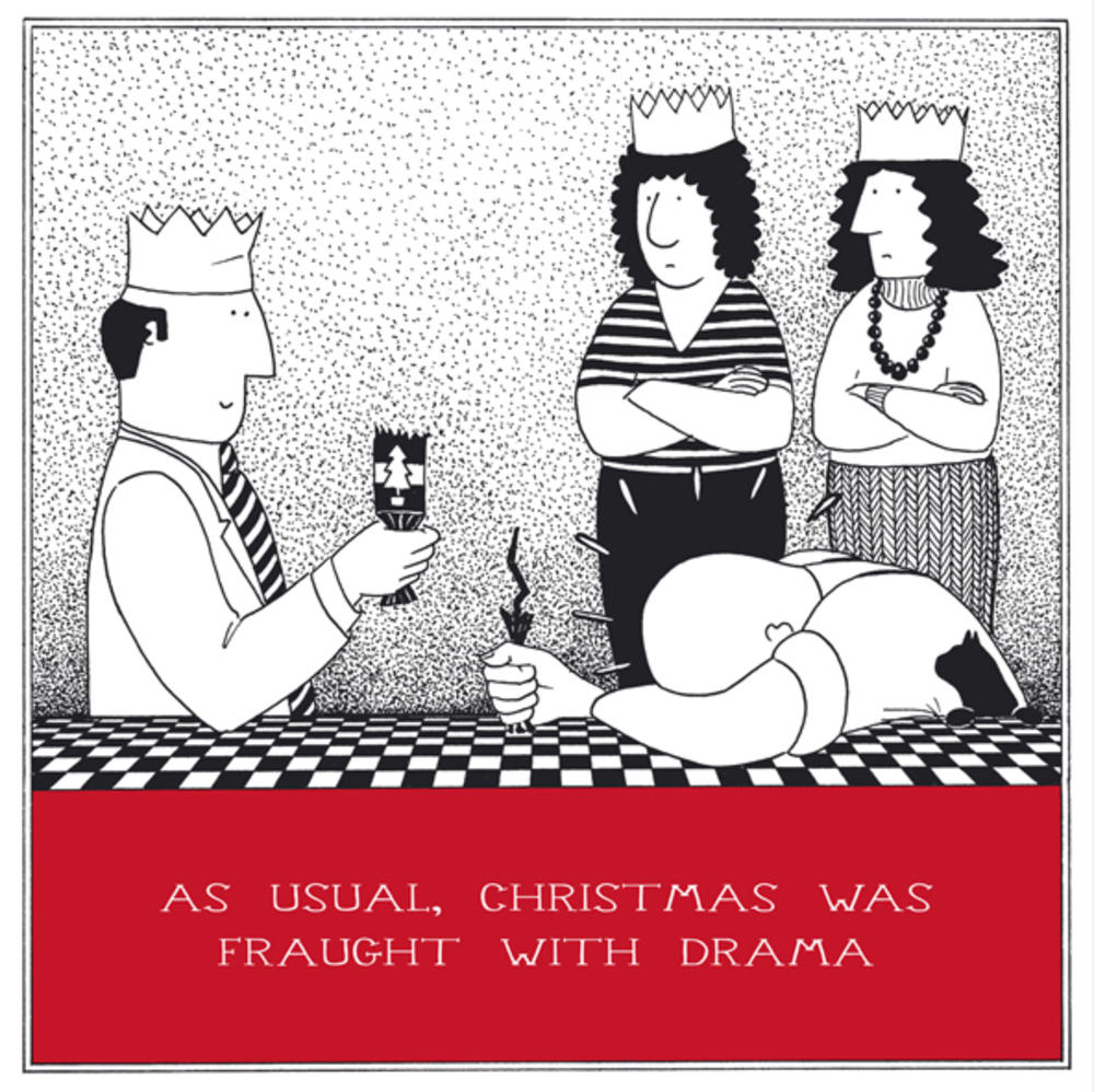 Fraught With Drama Funny Fred Christmas Card