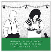 Looked Forward To A Sherry Funny Fred Christmas Card