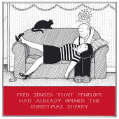 Opened The Sherry Funny Fred Christmas Card