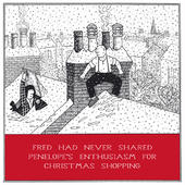 Enthusiasm For Shopping Funny Fred Christmas Card