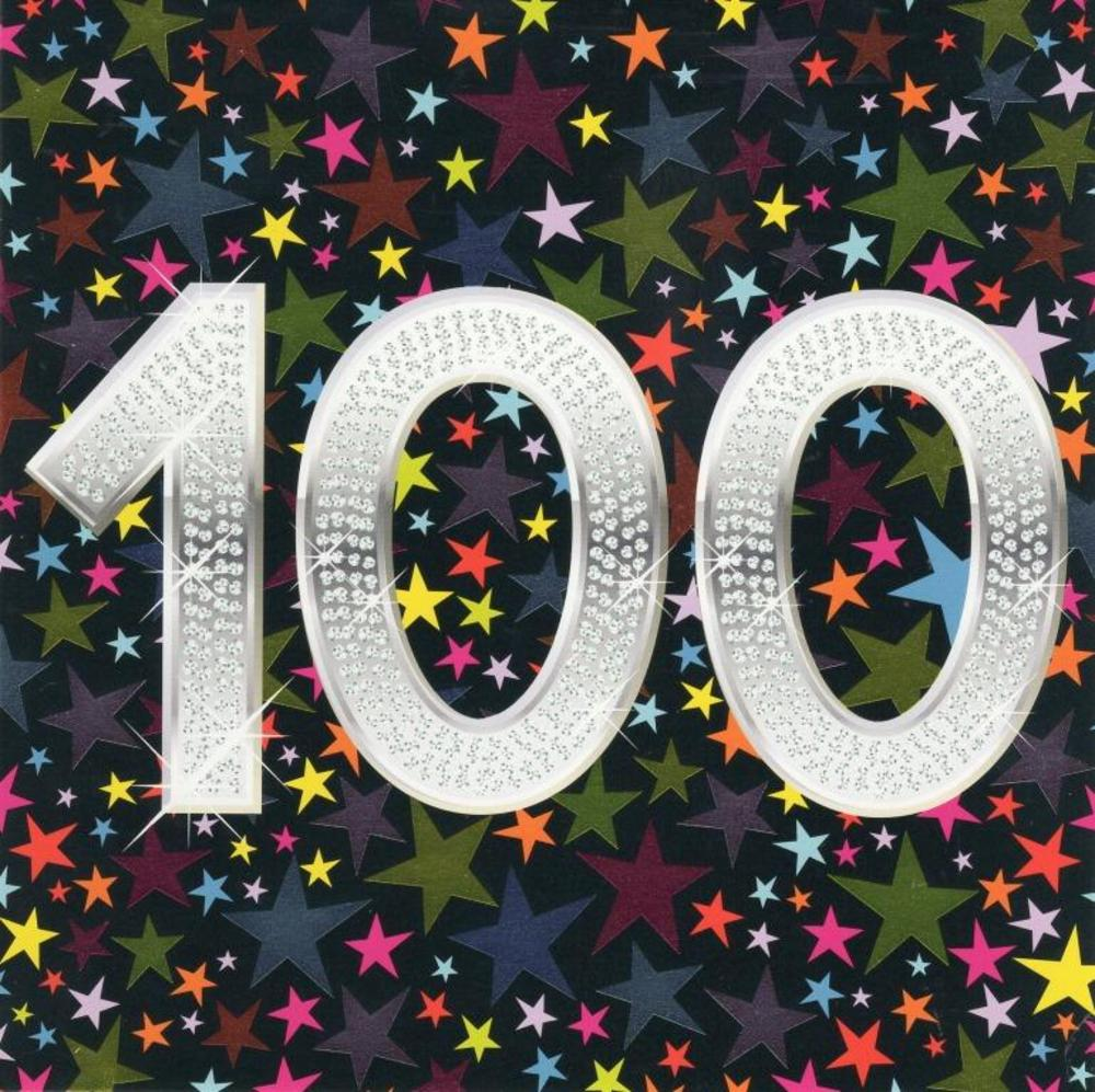 100 Happy 100th Birthday Greeting Card