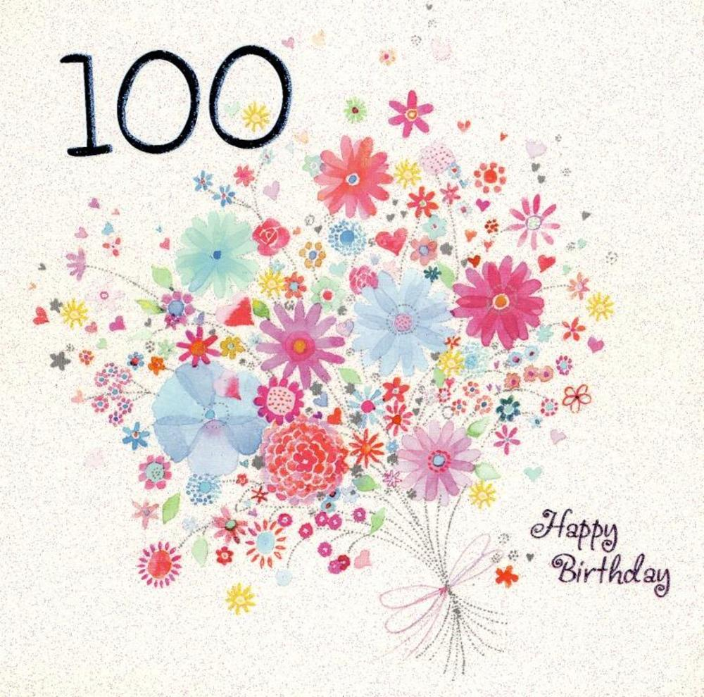 One hundred happy 100th birthday greeting card cards love kates one hundred happy 100th birthday greeting card bookmarktalkfo Images