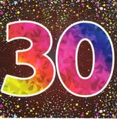 Thirty Happy 30th Birthday Greeting Card