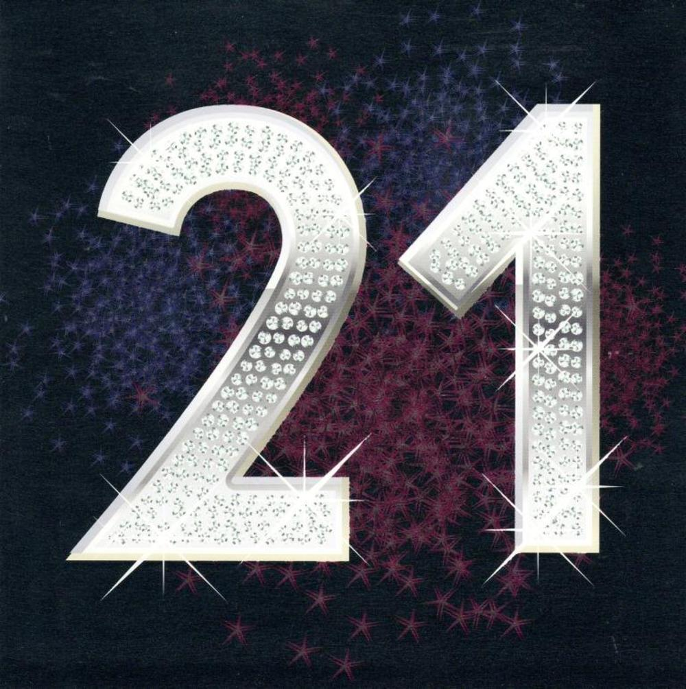 Twenty One Happy 21st Birthday Greeting Card