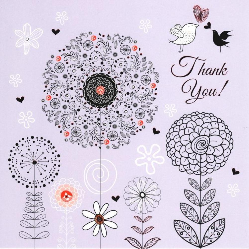 Thank you pretty foiled greeting card cards love kates thank you pretty foiled greeting card m4hsunfo