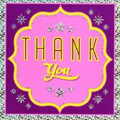 Thank You Square Greeting Card