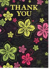 Pretty Flowery Thank You Greeting Card