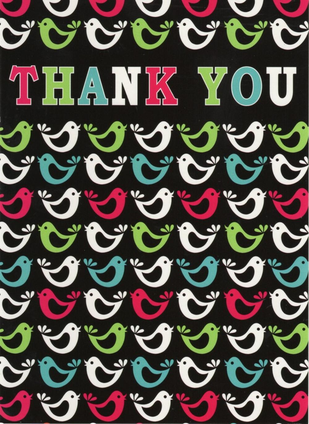 Thank You Patterned Greeting Card