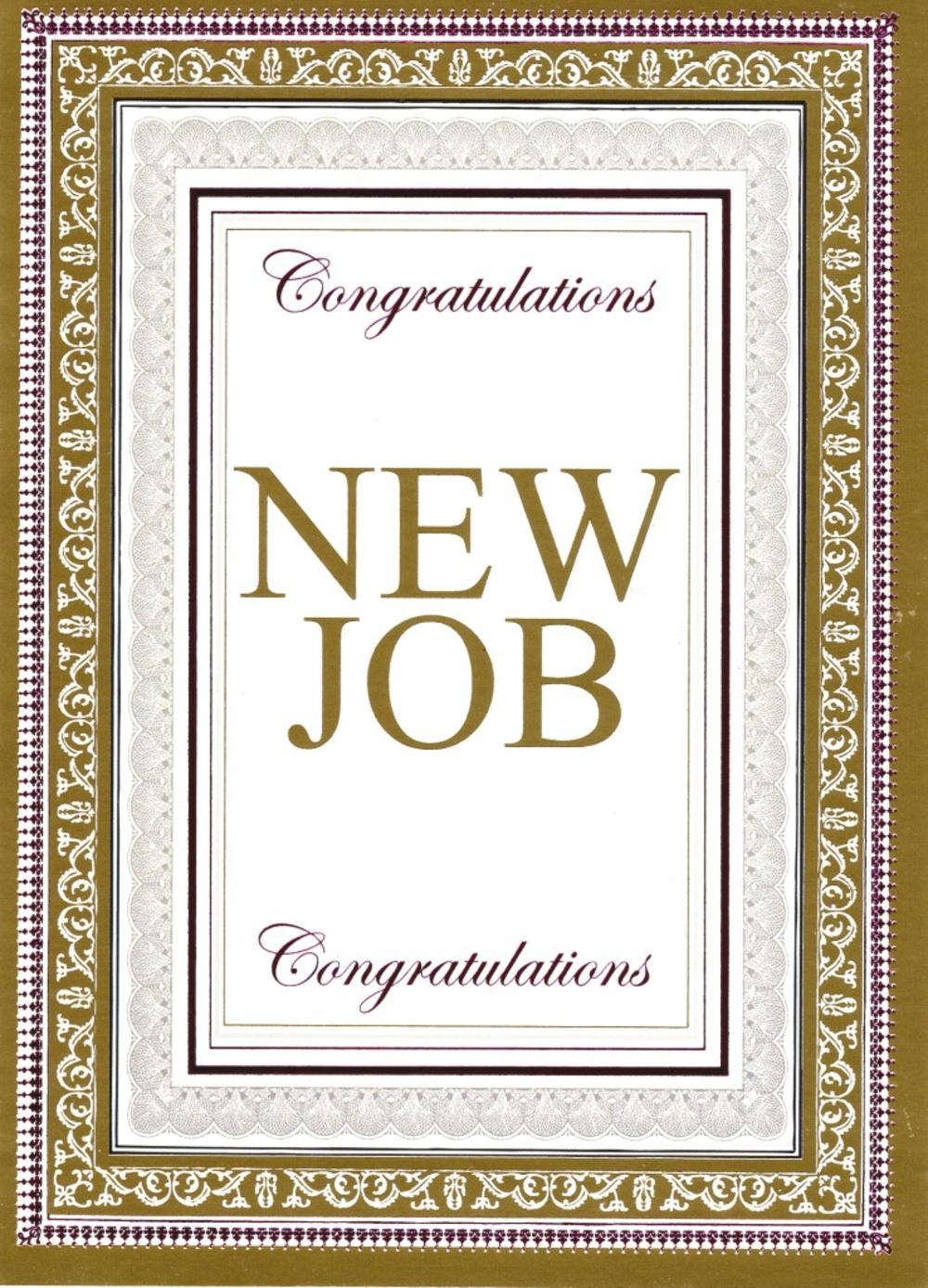 Congratulations New Job Greeting Card Cards Love Kates