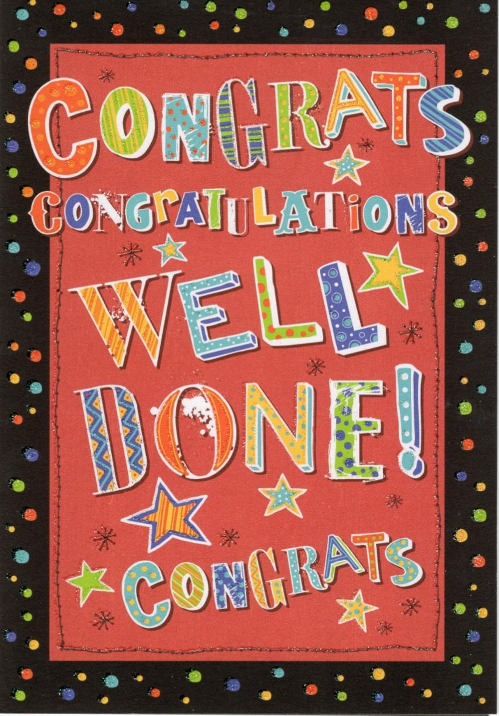 Congratulations Well Done Congrats Greeting Card