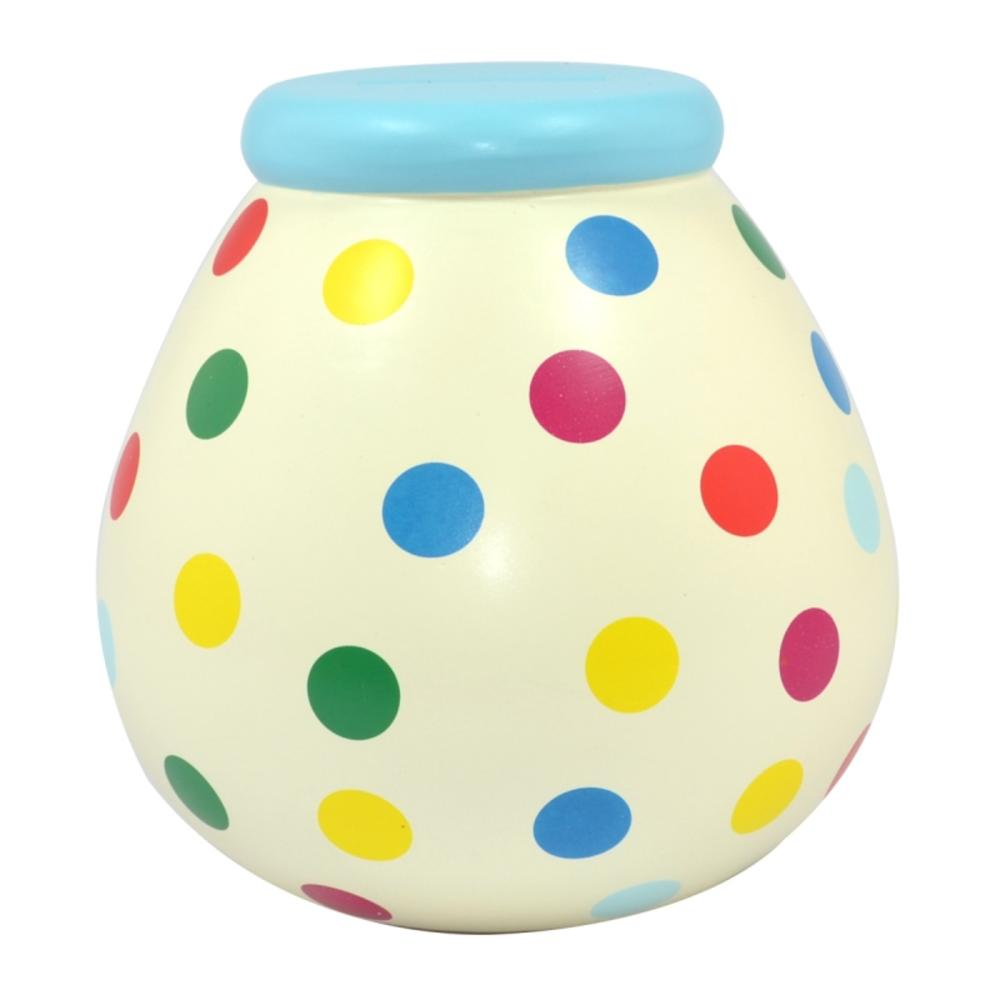 Multicoloured Spots Pots of Dreams Money Pot