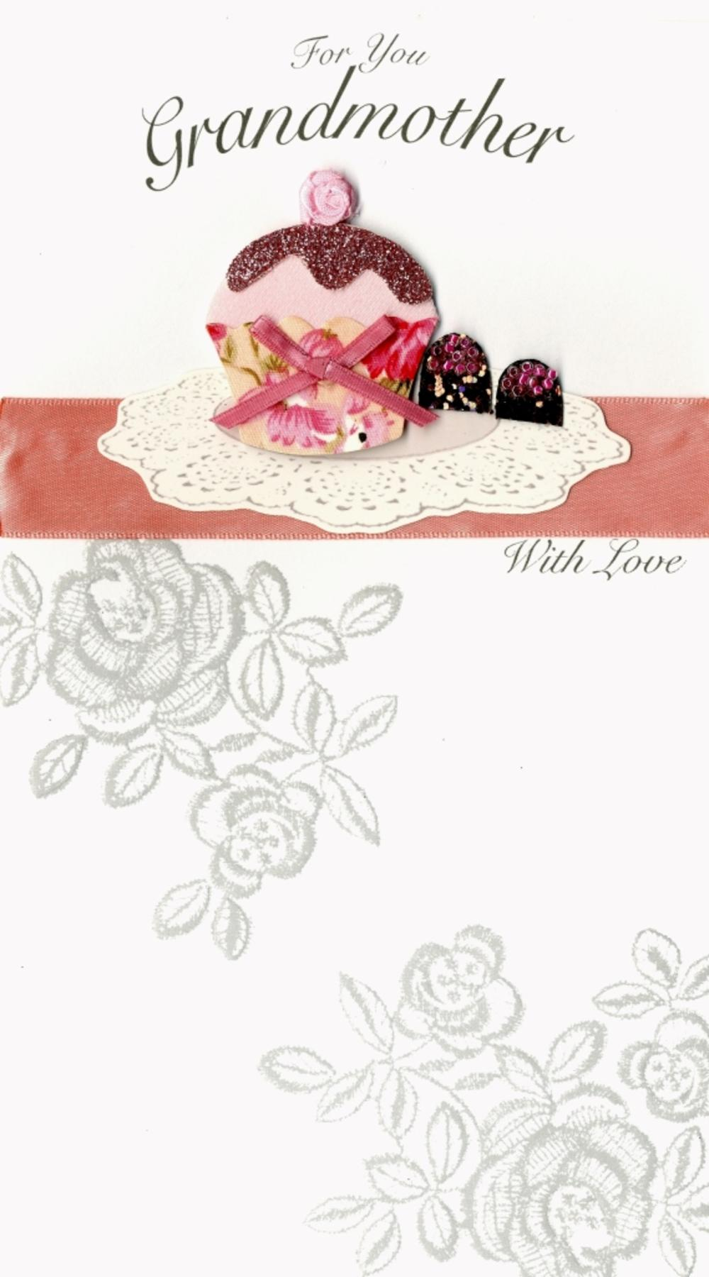 For You Grandmother Happy Birthday Greeting Card