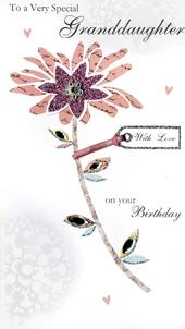 Special Granddaughter Happy Birthday Greeting Card