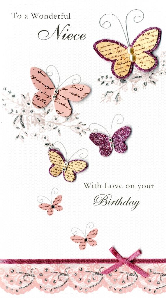 Wonderful Niece Happy Birthday Greeting Card