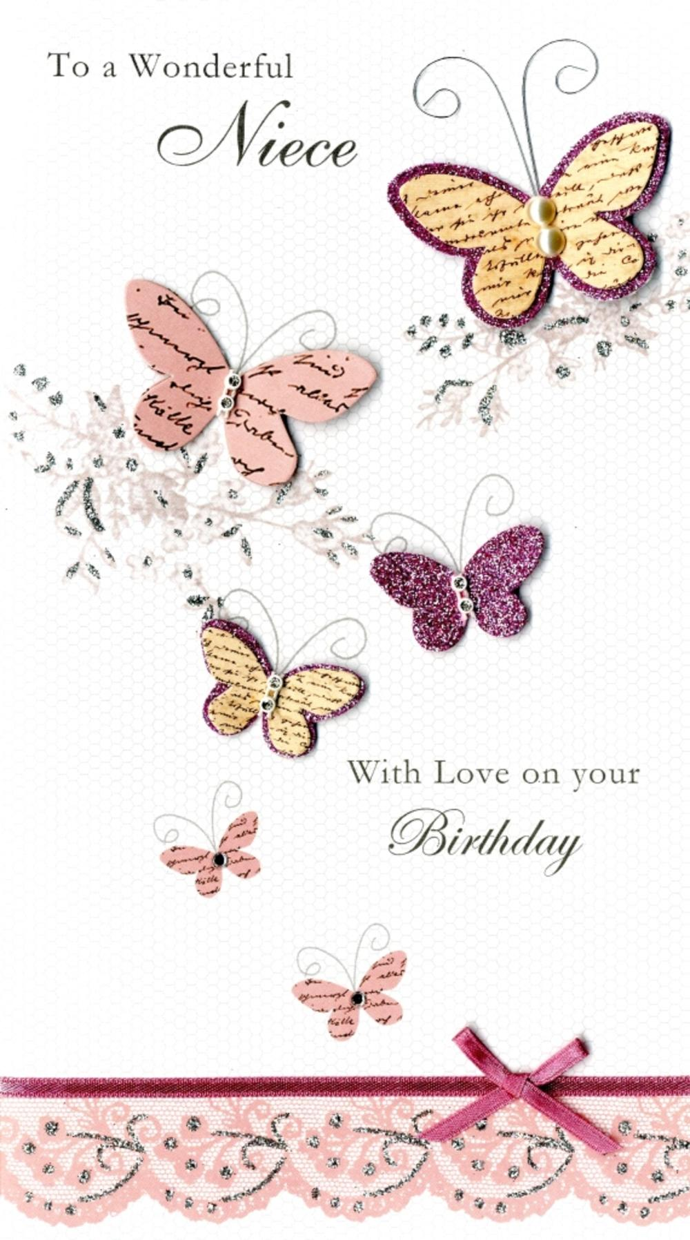 Wonderful Niece Happy Birthday Greeting Card