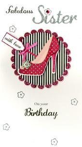 Fabulous Sister Happy Birthday Greeting Card