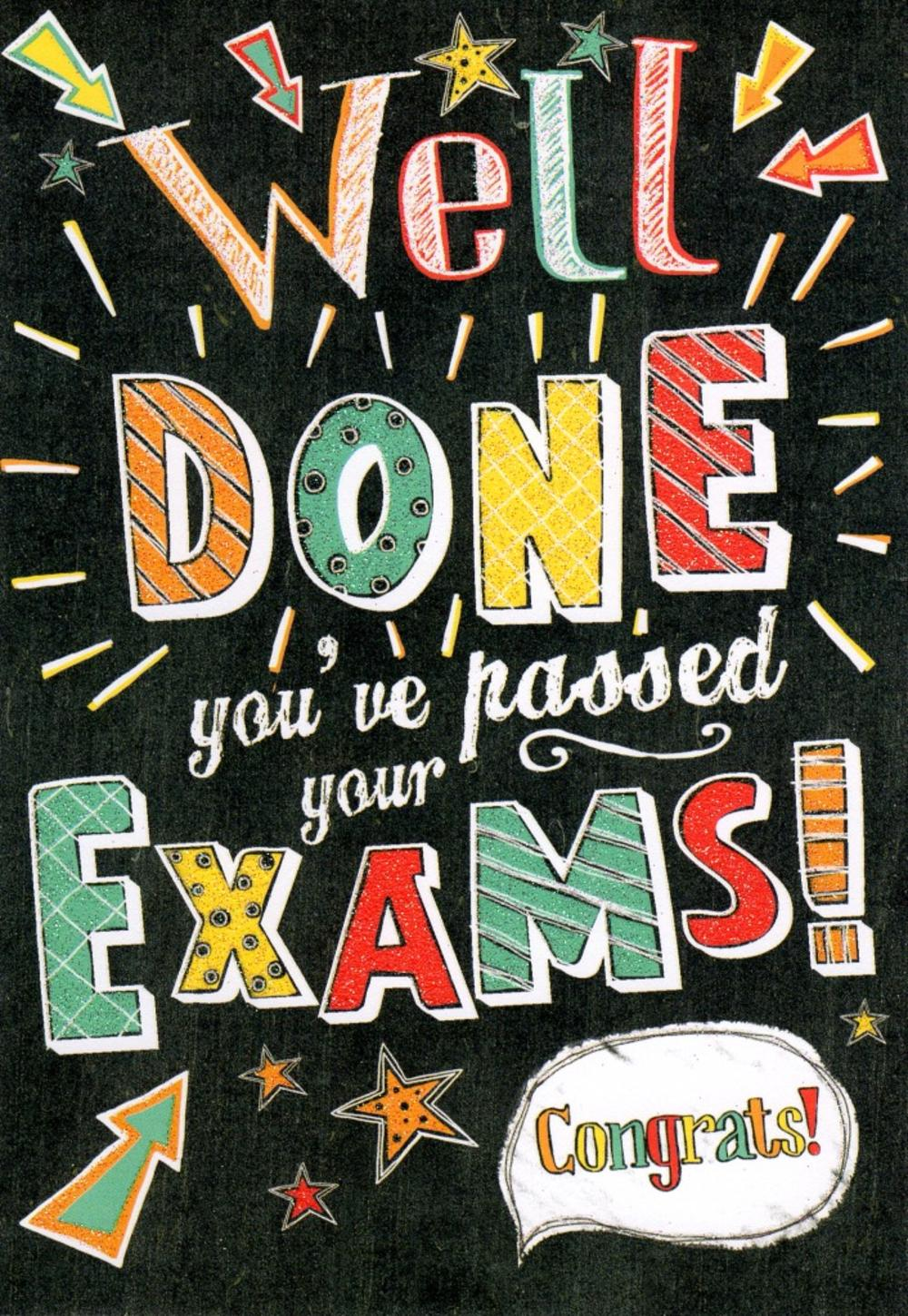 Well Done You've Passed Your Exams Congrats Greeting Card