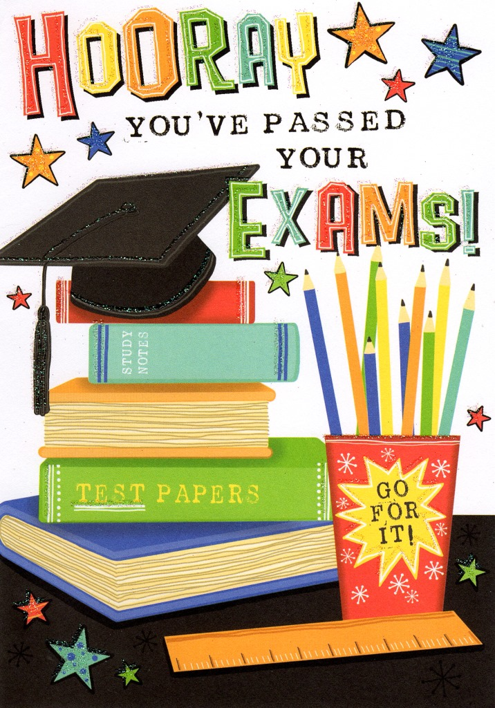 hooray you ve passed your exams greeting card cards