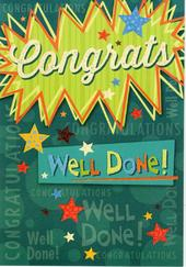 Congrats Well Done Congrats Greeting Card