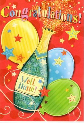 Congratulations Congrats Greeting Card