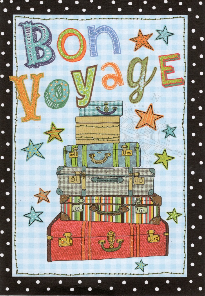 Bon Voyage Greeting Card Cards Love Kates