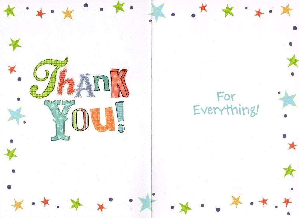 thank you very much greeting card  cards