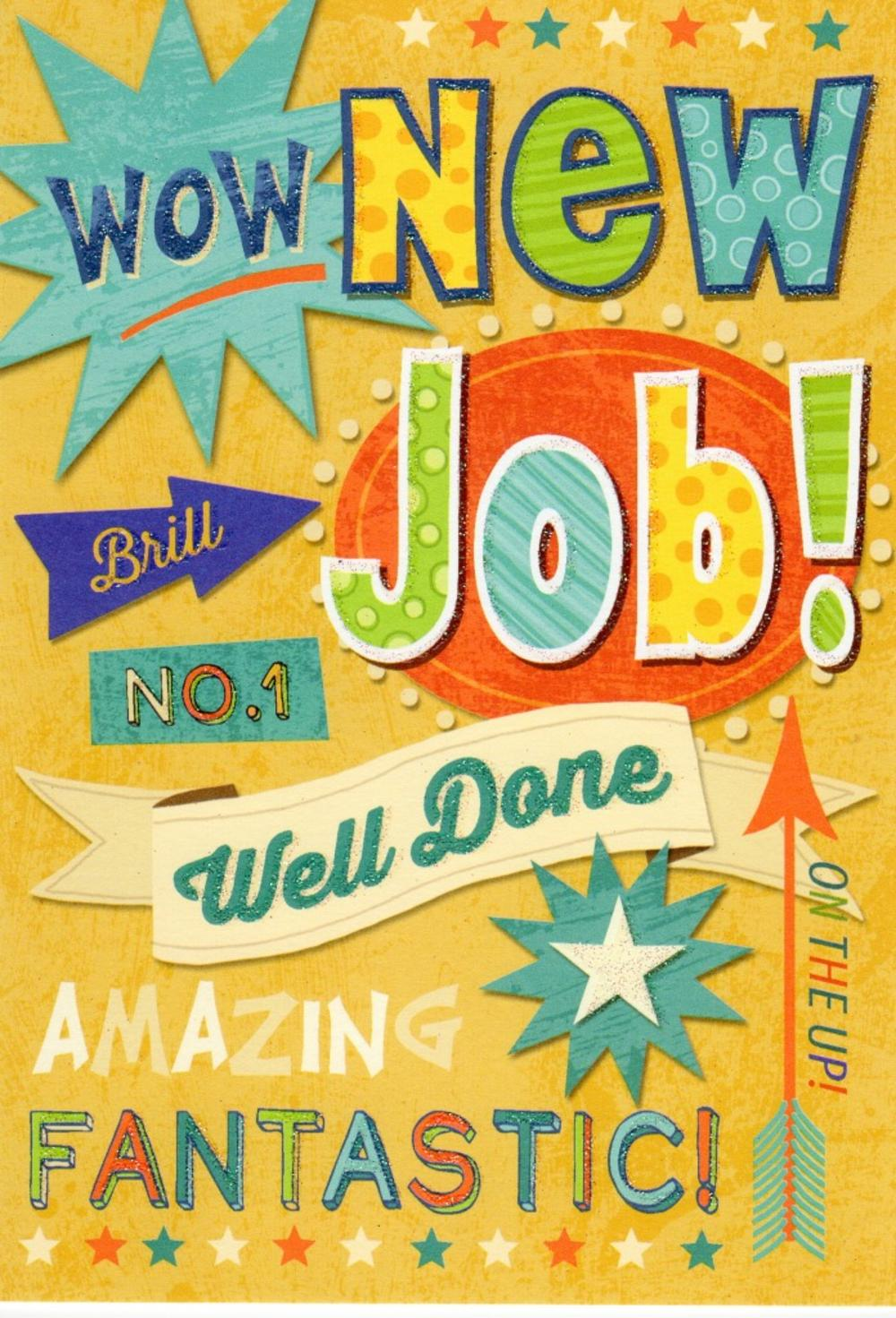 New Job Well Done Greeting Card  Job Well Done